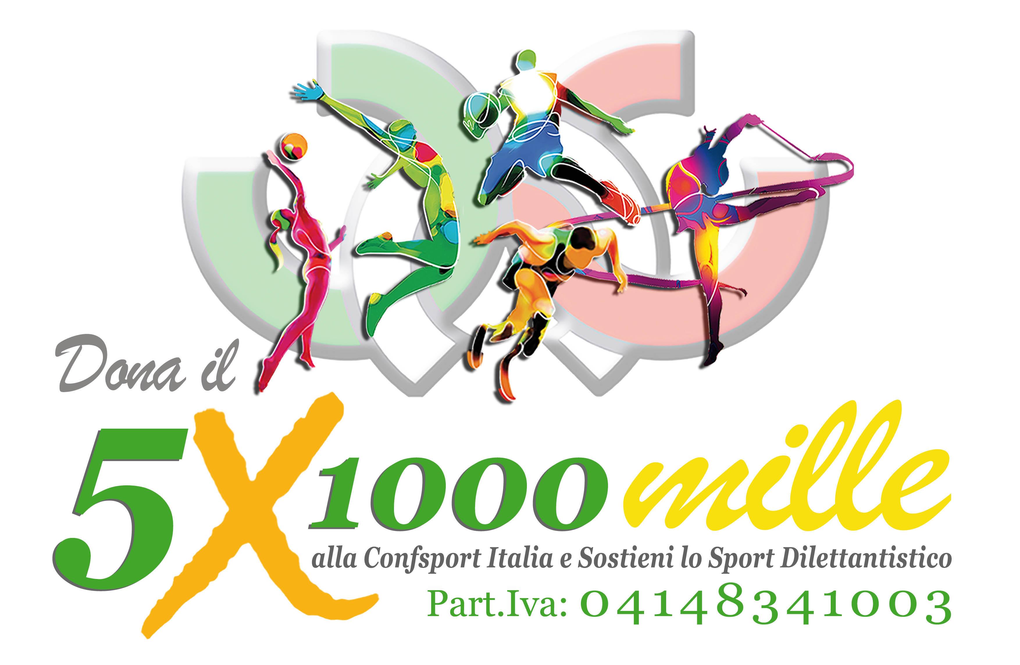 Dona il 5 per 1000 alla Confsport Italia