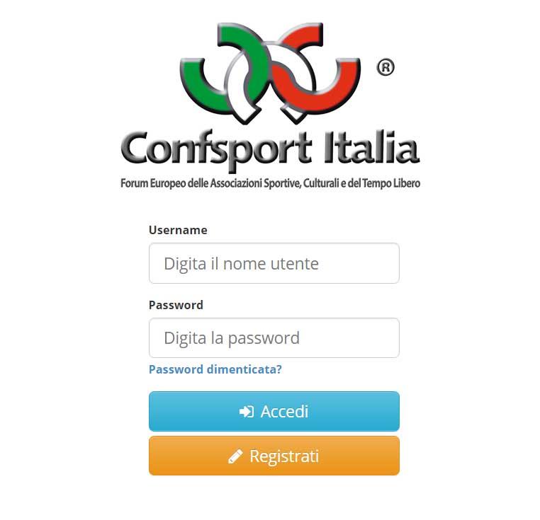 Portale Confsport Italia